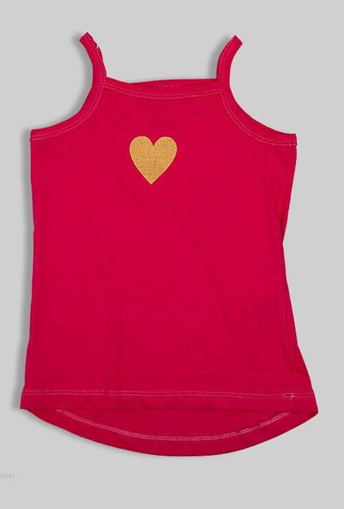"""רביעיית חולצות וגופיות """"לב"""" זהב"""