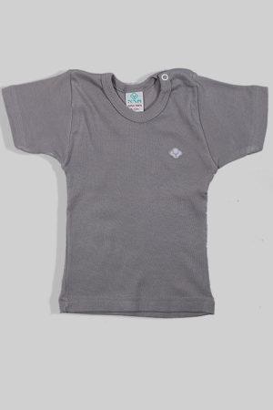 חולצת קיץ אפורה עם תיקתק