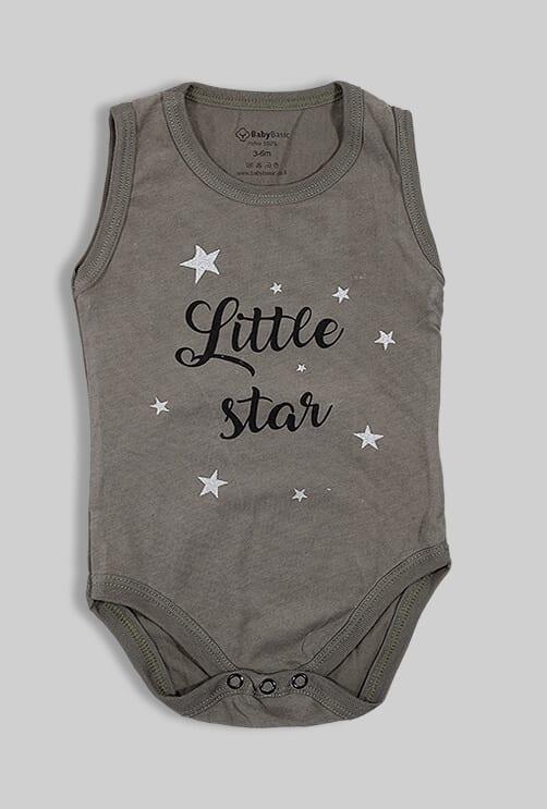 """בגד גוף גופייה ירוק """"Little Star"""""""