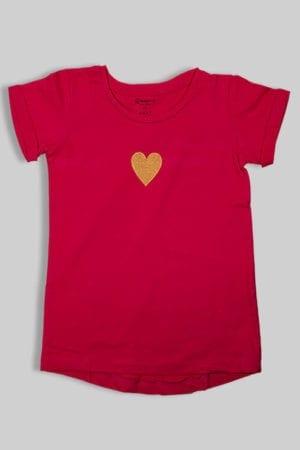 """חולצה """"לב"""" ורוד"""