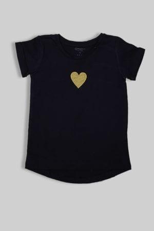 """חולצה """"לב"""" כחול כהה"""