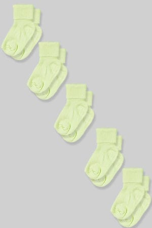 חמישיית גרביים לתינוקות  - ירוק