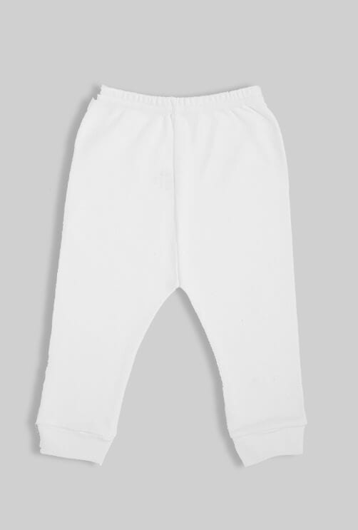 שישיית מכנסיים פתוחים פלנל לבן (0-2.5 שנים)