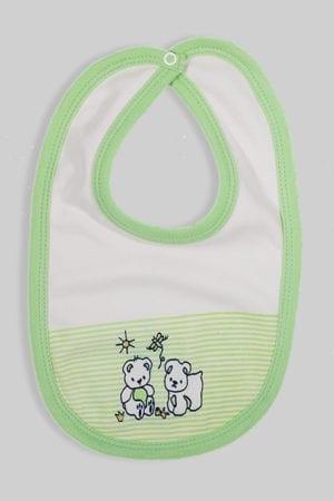 סינר לתינוק פסים ירוק כהה