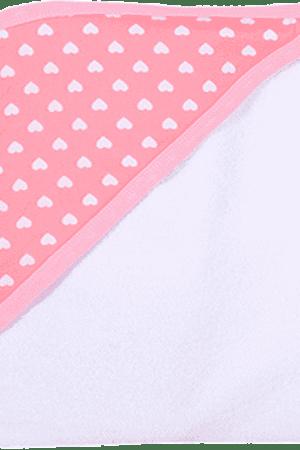 מגבת לתינוק עם כובע לבבות