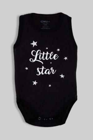 """בגד גוף גופייה שחור """"Little Star"""""""