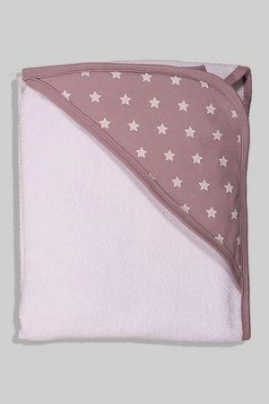מגבת לתינוק עם כובע - כוכבים - סגול