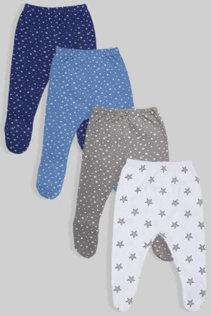רביעיית רגליות טריקו - כוכבים - שחור כחול אפור