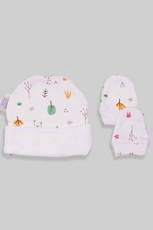 כפפות וכובע לתינוק - יער (0-3 חודשים)
