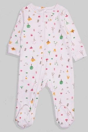 אוברול פלנל לתינוקות עם רוכסן - יער (0 - 18 חודשים)