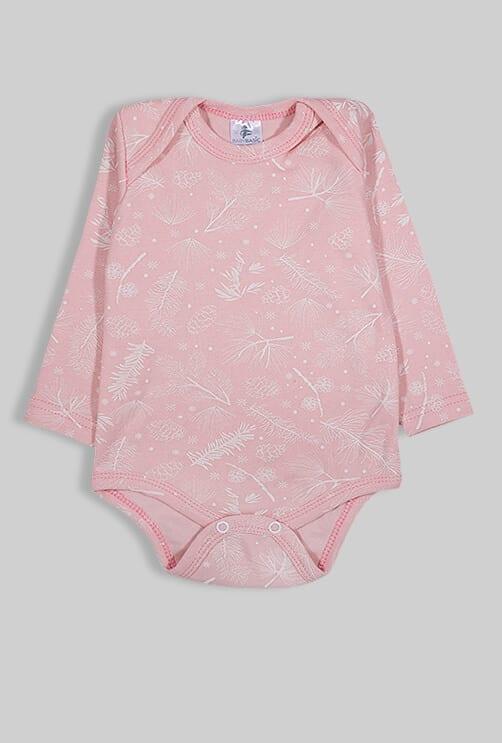 רביעיית בגדי גוף פלנל - נוצות פרחים איקסים (0-2.5 שנים)