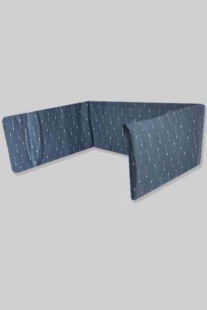 מגן ראש למיטת תינוק - בסיס כחול חיצים