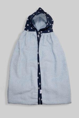 מגבת ענקית לתינוק עם כובע כוכבים כחול