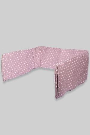 מגן ראש למיטת תינוק - בסיס סגול משולשים