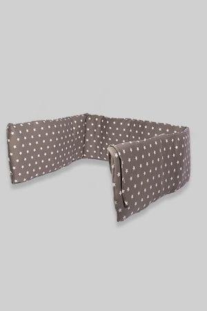 מגן ראש למיטת תינוק - בסיס אפור כוכבים
