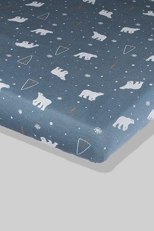 סדין כחול דובים - מיטת תינוק/מיטת מעבר | עריסה