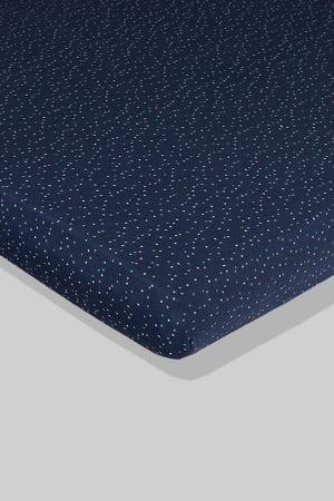 סדין לתינוק - כחול נקודות - מיטת תינוק/מיטת מעבר | עריסה