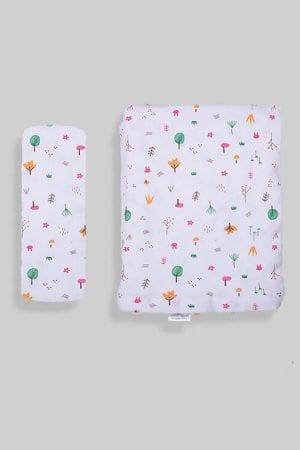 ציפה + סדין למיטת תינוק/מעבר - יער