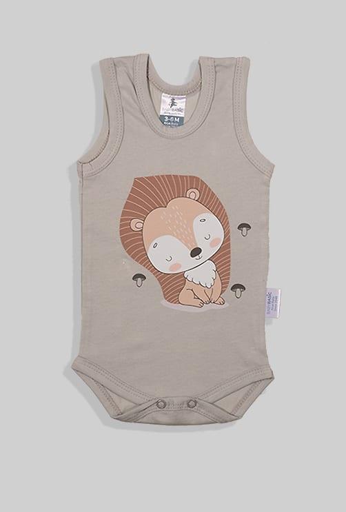 שלישיית בגדי גוף גופייה  - מנורה אריה שמש (3 חודשים - שנתיים)