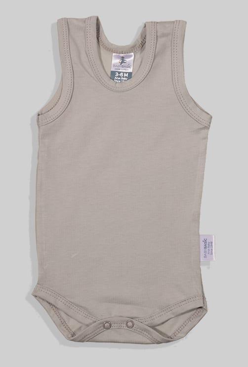 שלישיית בגדי גוף גופייה - שמנת שחור אפור (3 חודשים - שנתיים)