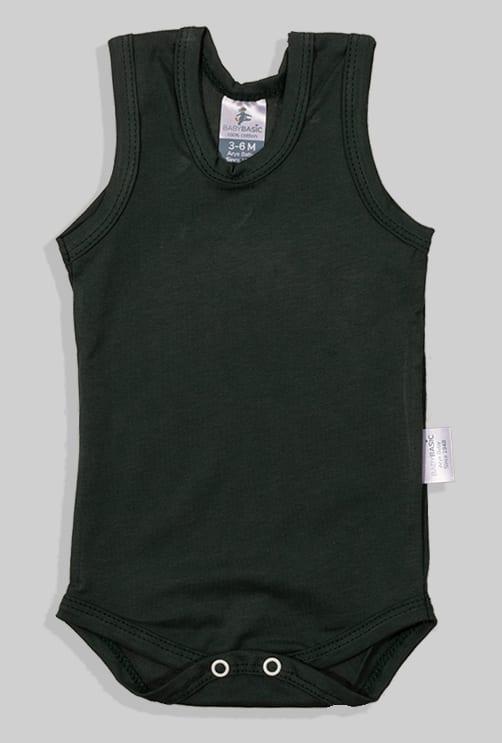 שלישיית בגדי גוף גופייה - דובי פופקורן חלק (3 חודשים - שנתיים)
