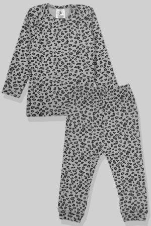 חליפת שינה שרוול ארוך פלנל - מנומר אפרפר (6 חודשים - 2.5 שנים)