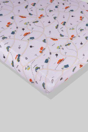 סדין לתינוק - מכוניות - מיטת תינוק/מיטת מעבר | עריסה
